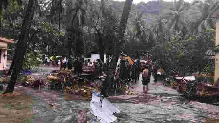 """喀拉拉邦洪水:联合国首席销毁""""悲伤"""""""