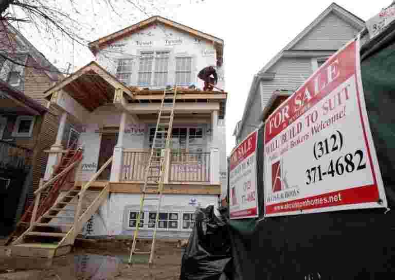由于抵押贷款涨幅,美国新的房屋销售额附近两年低